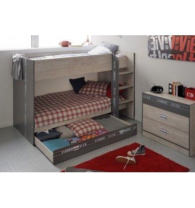 Les 25 meilleures id es de la cat gorie rangement sous le lit sur pinterest - Lit superpose petit espace ...