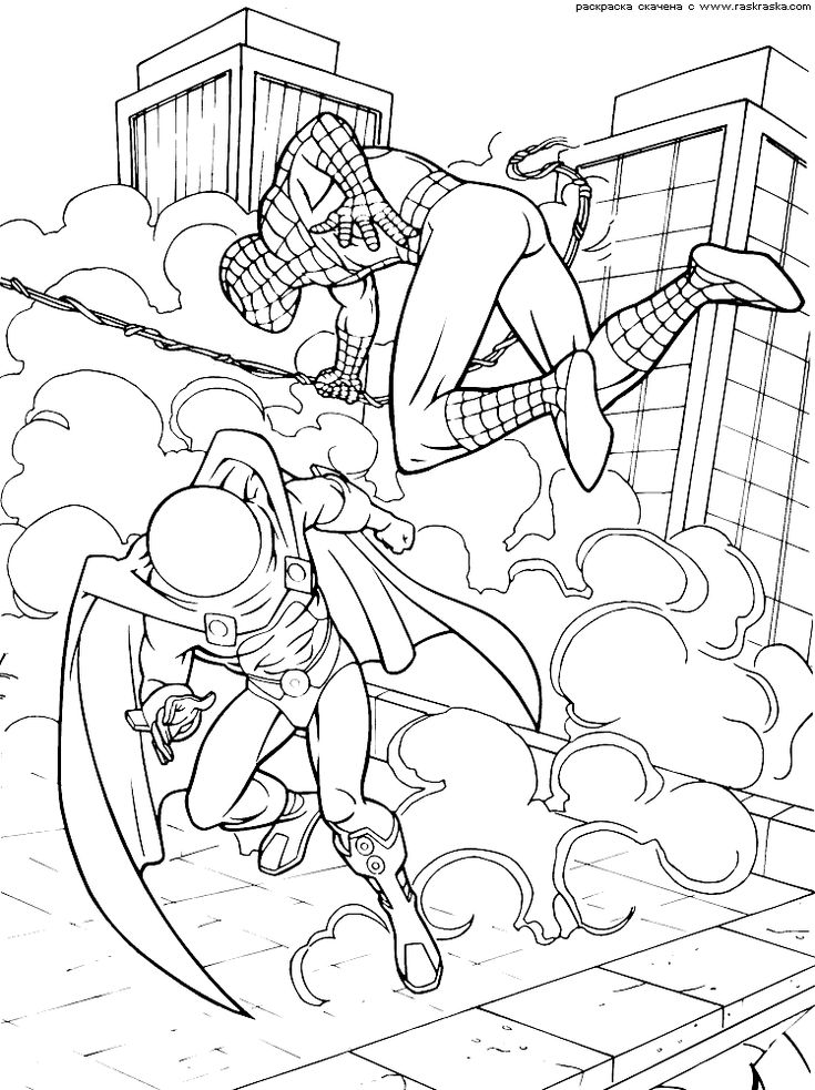 SpiderMan Coloring Pages Kids Printables
