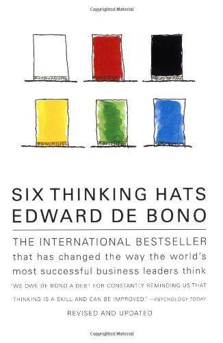 Six Thinking Hats by Edward de Bono, http://www.amazon.com/dp/0316178314/ref=cm_sw_r_pi_dp_CEpHvb10G27MX