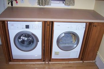 Inside Cabinet Washer And Dryer 2 089 Door To Hide