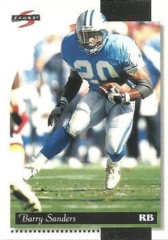 1996 Score #200 Barry Sanders - Detroit Lions.