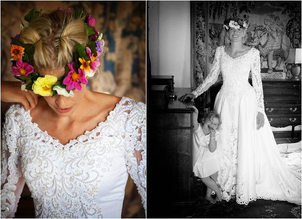 80s style bride | Image by Lydia Taylor-Jones, read more http://www.frenchweddingstyle.com/80s-inspired-wedding-france/