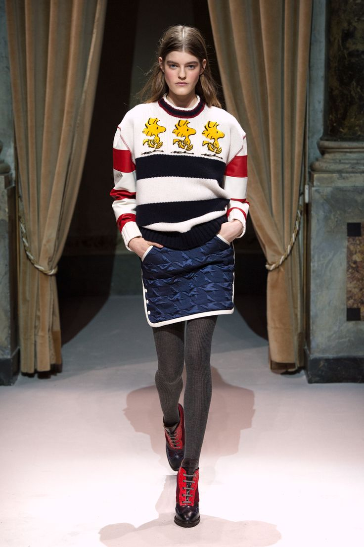 Look 3 from Fay Women's Fall - Winter 2014/15 collection seen on the catwalk.
