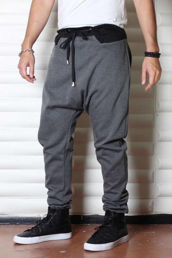 Gray Black or White Sweatpants Mens Joggers or Drop by C4DApparel