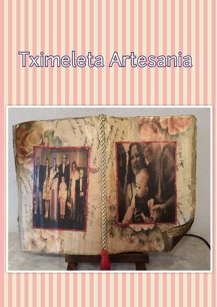 libro antiguo decorado. de Tximeleta Artesanía por DaWanda.com