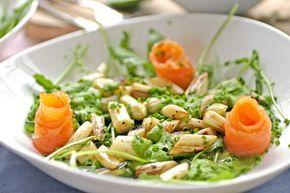 Gebakken asperges met waterkerssaus en zalm – Puur Gezond