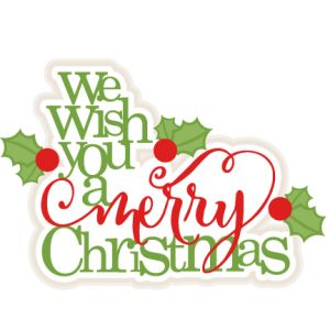 We Wish You A Merry Christmas scrapbook title christmas cut outs for ...