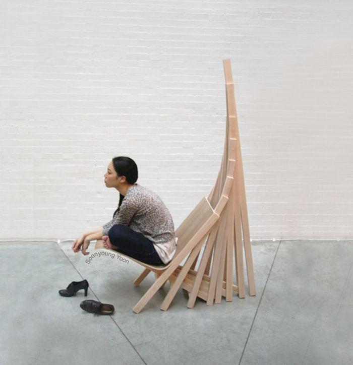 Way Home le fauteuil architectural par ©Soonyoung Anna Yoon biomorphisme