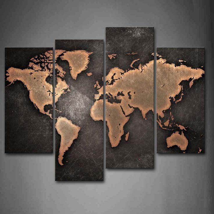 Classic 3d Desktop Workplace Wallpaper Best 25 World Map Painting Ideas On Pinterest 3 Piece