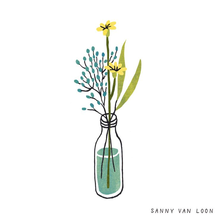 Illustration by Sanny van Loon from the book 'Creative Flow' • www.sannyvanloon.com | wildflowers