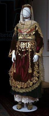 Bridal costume from Salamina Island