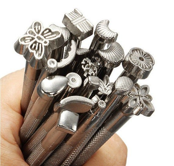 Leather Working Saddle Making Tools Carving Leather Craft Stamps DIY Tools