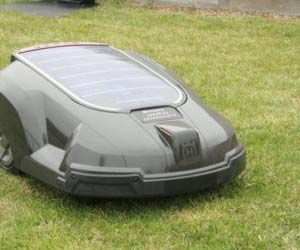 Solar Powered Auto Lawn Mower  Enter into The Future™ of lawn care with this solar powered automatic lawn mower. Working like a roomba vacuum for your front and back yard, this amazing lawn mower uses a mix of gas and solar energy to power itself up and do all the work for you.  Buy It  $2,999.95
