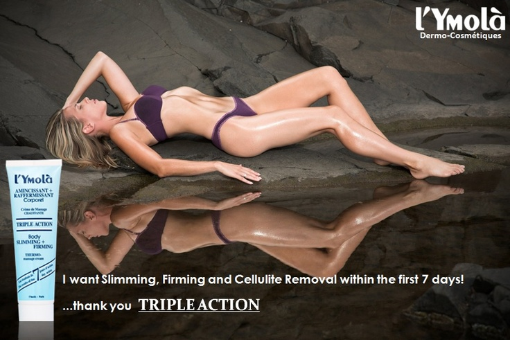 ANTI-CELLULITE+SLIMMING+FIRMING!!!  TRIPLE ACTION releases all types of body fat, even the most persistant with an innovative Thermo-Active formula! A super active SLIMMING!
