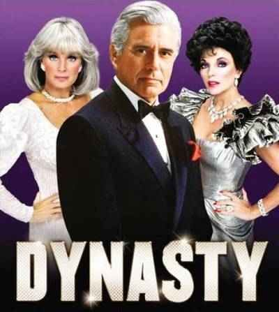 Dynasty starring John Forsythe, Linda Evans and Joan Collins as Alexis.  One of tv's great soaps.