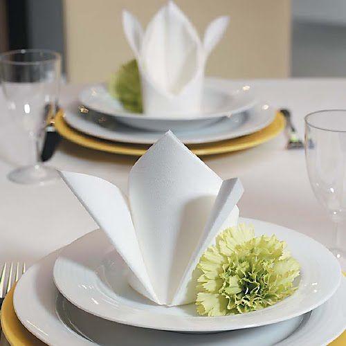 SERWETKI flizelinowe gładkie DUNI Białe 60szt #slub #wesele #sklepslubny #slubnezakupy #dekoracje