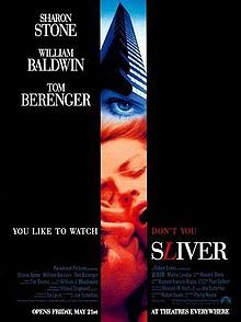 Sliver. A voyeuristic landlord of an apartment building electronically spies on his tenants through hidden security cameras installed in the apartments.  Somewhat derivative of Rear Window. What do you do when you see something wrong? An under-rated film that examines the ethics of spying on others lives