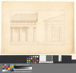 YALE CENTER OF BRITISH ART The Temple of Aphaia at Aegina: Two Elevations