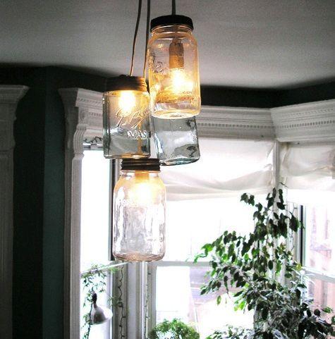 Mason jar lights.....LOVE!!