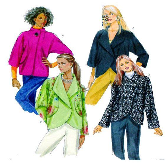 Wrap Front Jacket Coat Butterick 5423 Size 14-16-18-20