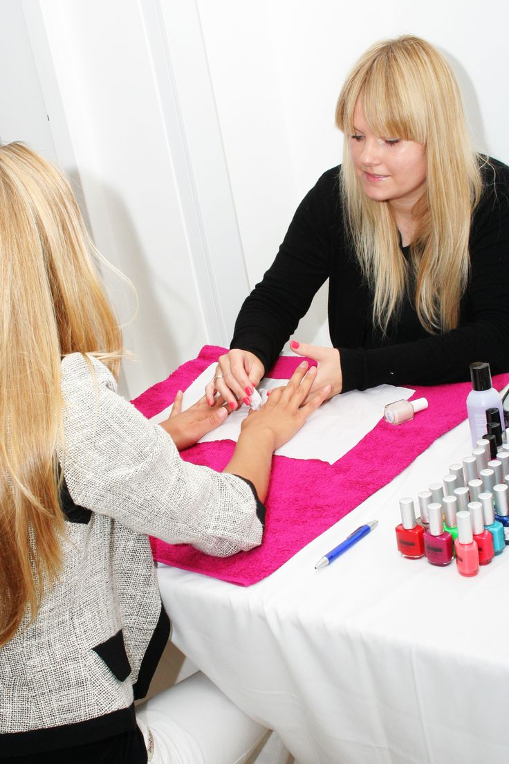 Treating our guests to a manicure!