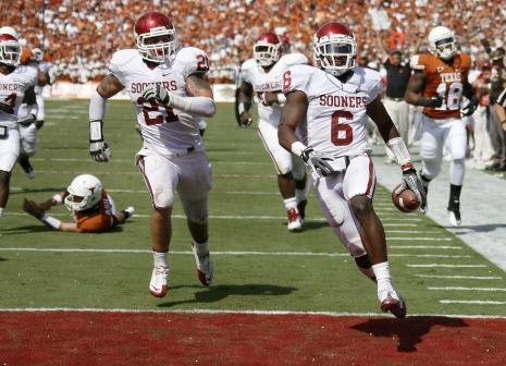 October 8, 2011 --- Final Score: OU 55 - Texas 17 --- Let's hope for a similar outcome this weekend!  ;)