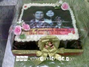 Cetak Edible Cake Hantaran Pernikahan Cetak Edible Wedding Cake   Toko Coklat Kita