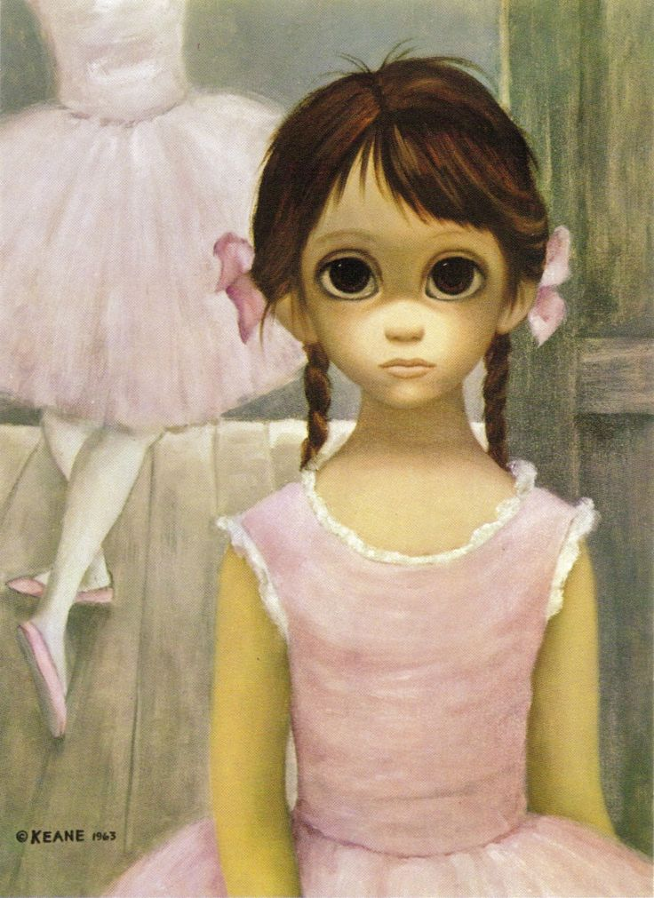 """The Reluctant Ballerina"" ~ by Margaret Keane, 1964"
