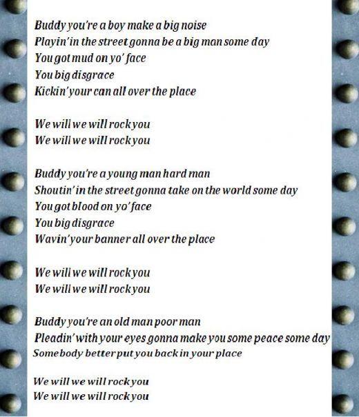 Lyrics to rock you
