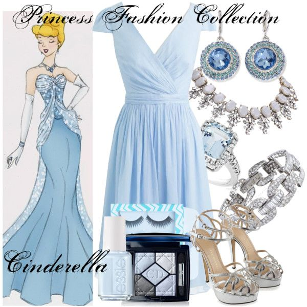 """""""Princess Fashion Collection: Cinderella"""" by amarie104 on Polyvore"""