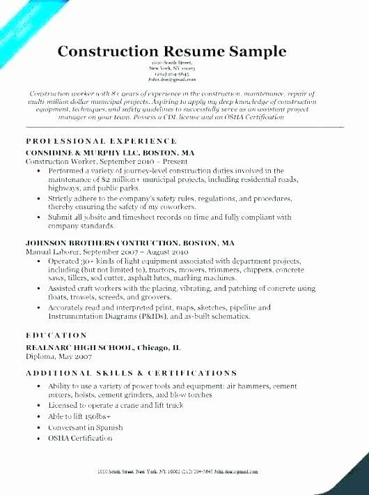 General Laborer Resume Job Description Lovely General Labor Resume Admirably Example Laborer Template Job Description In 2020 Job Description Resume Babysitter Jobs