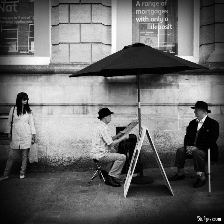 iPhoneography – { artist at work } - Candid street photography represents a genre that gives me the most satisfaction but places me outside of my comfort zone. I am an introvert by nature and prefer to avoid situations where even the remotest possibility of conflict may exist. I really enjoy the relationship between these three figures.