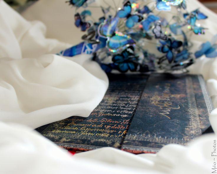 DIY - bouquet de mariée papillons - livre d'or
