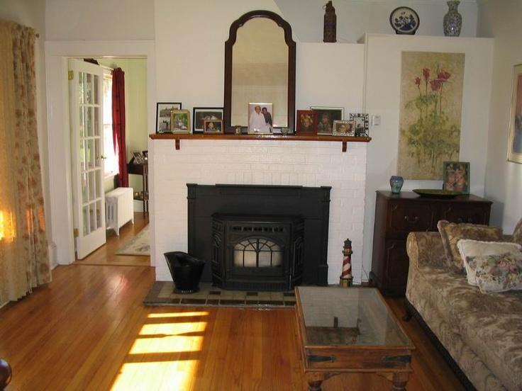 Pellet Stove Insert - White brick surround. | Pellet stove ...