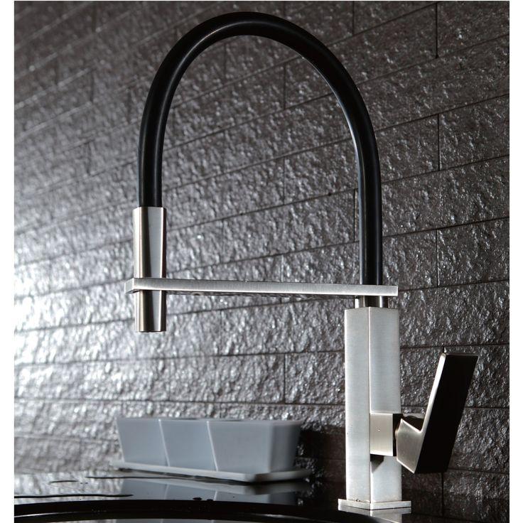 berno pull out kitchen tap brushed nickel u0026 black