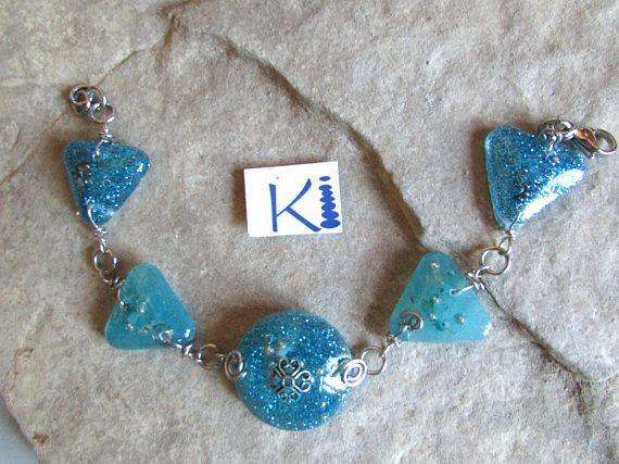 Turquoise Orgone Bracelet Aquamarine Stainless Steel