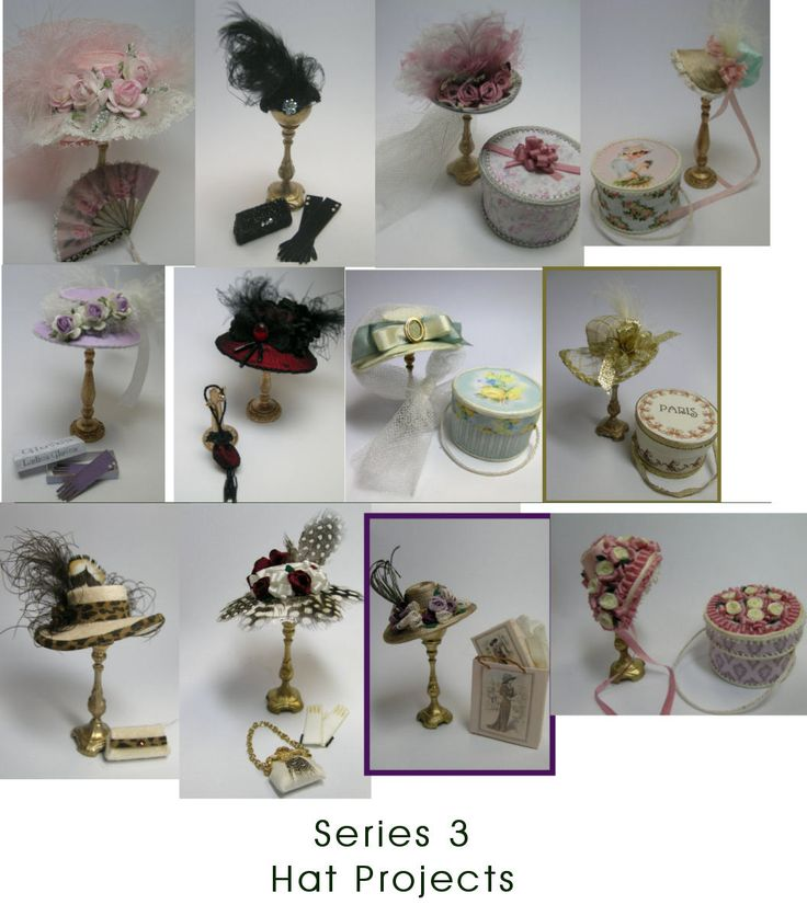 Complete Series 3 Hat Project - DOWNLOAD : Cynthia Howe Miniatures!, Your premier source for Dollhouse Miniatures, Miniature Classes, Miniature Dolls and Molds, Kits and Free Tutorials.
