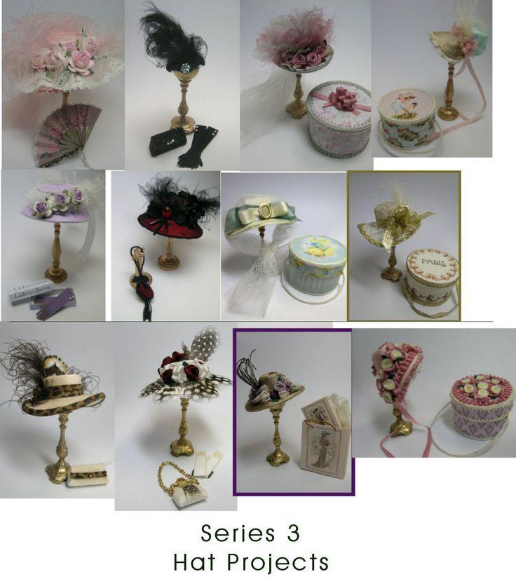 Dollhouse Miniatures Diy Tutorials: 141 Best Images About Miniature Hats On Pinterest