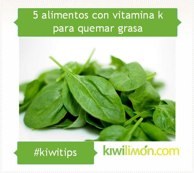 5 alimentos con vitamina k para quemar grasa