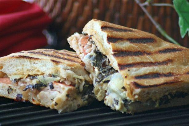 This is my favorite sandwich at Panera so I was happy to find the recipe and share! Its a terrific way to use up leftover spinach artichoke dip, or an excuse to make some up...try Recipe#277769 or Recipe#243807 to cut out some of the fat.
