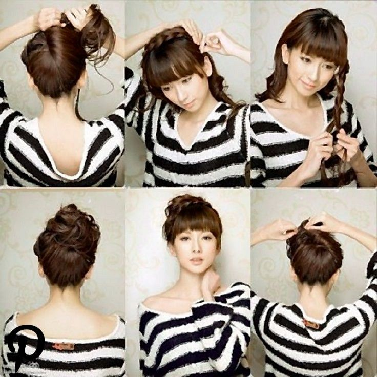Top 10 Fast Hairstyles For Wet Hair Hubsche Frisuren Nasse Haare Haar Brotchen