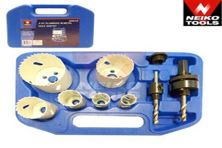 9 pc Plumbers Bi-Metal Hole Saw Kit