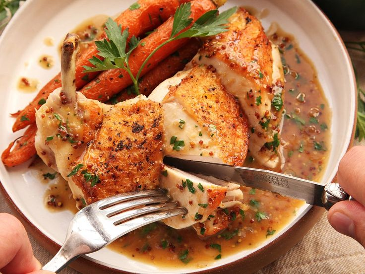 Pan-roasted chicken with pan sauce—like this one flavored with bourbon and whole grain mustard—is the ultimate weeknight staple. It's inexpensive, delicious, and takes less than half an hour from start to finish. Throw a great simple mixed green salad on the side, and you've got yourself one of my all-time favorite meals.