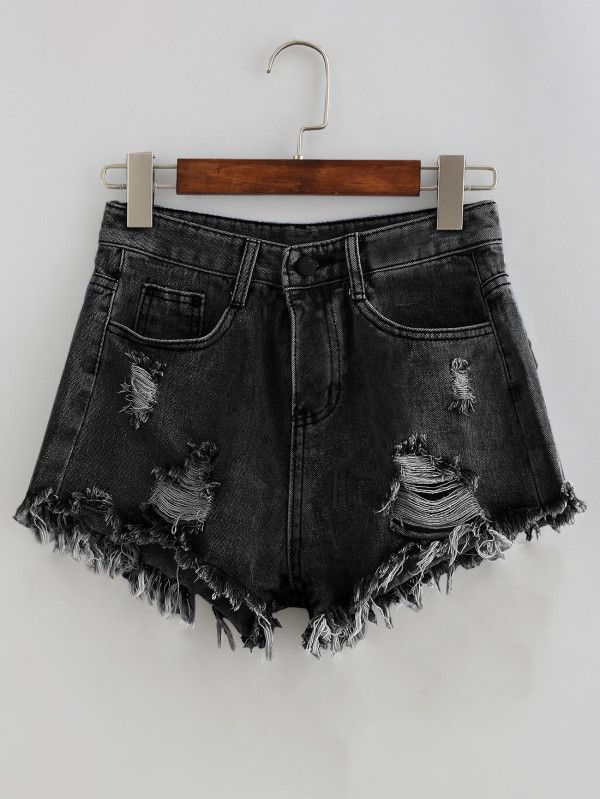 Shop Bleach Wash Distressed Denim Shorts online. SheIn offers Bleach Wash Distressed Denim Shorts & more to fit your fashionable needs.