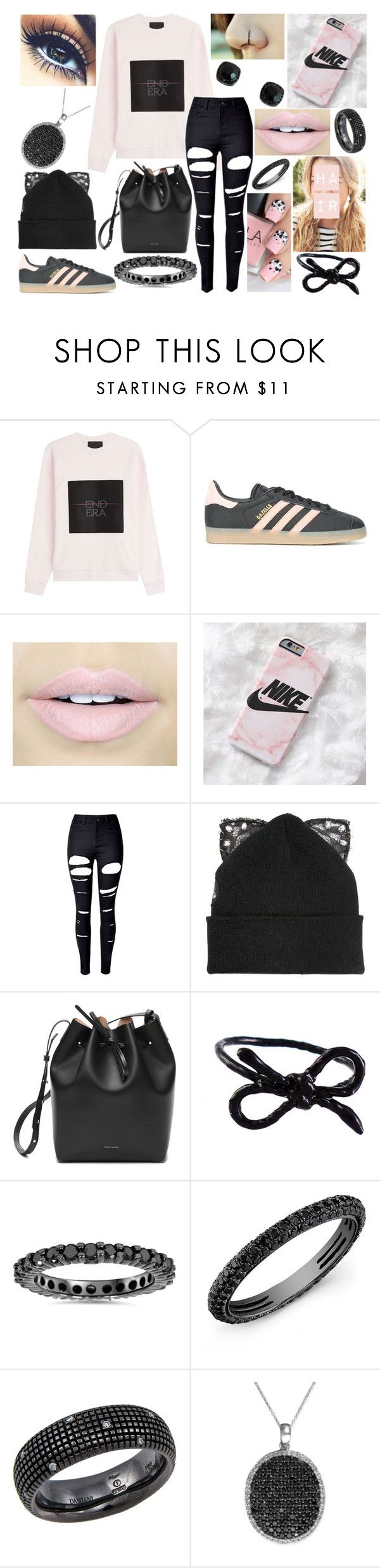 """""""OOTD-Monday, December 19"""" by kenziebandgeek ❤ liked on Polyvore featuring Alexander Wang, adidas, Fiebiger, WithChic, Silver Spoon Attire, Mansur Gavriel, Areaware, Anne Sisteron, Damiani and R.H. Macy's & Co."""