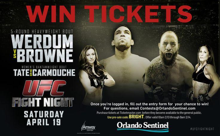 UFC Ticket Giveaway - Orlando Sentinel