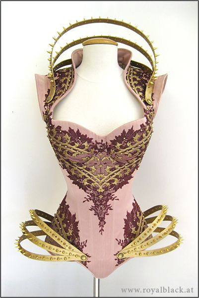 flagdemoness:  reapergrellsutcliff:  fairyworldfantasy:  x  I have a mighty need for that red and gold corset!  oh the enemies I would slay while wearing the pink one…