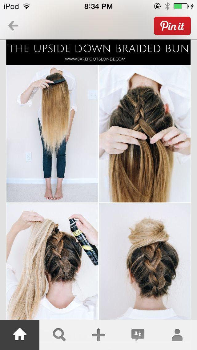 Beautiful back braid bun so stylish!