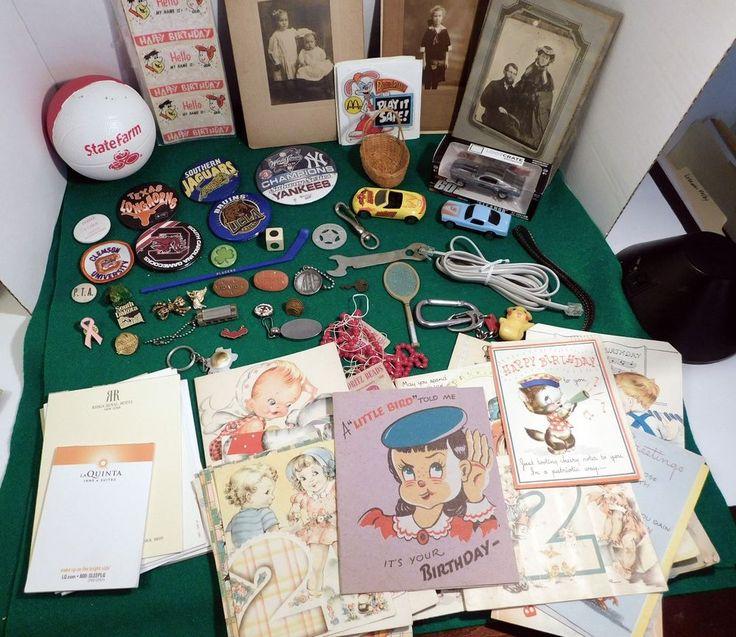 Junk Drawer Estate Sale Vintage Hotel Pads Birthday Cards Photos & More (YY)  | eBay