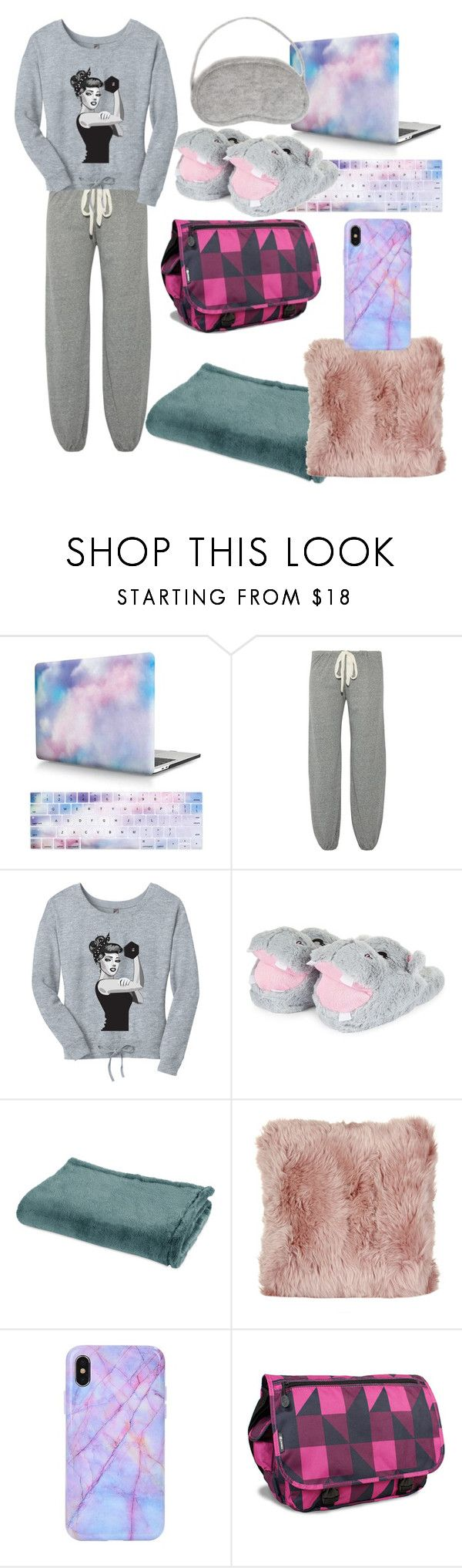 """Naruto OC pjs"" by ihearthawkeye ❤ liked on Polyvore featuring Eberjey, White + Warren, Berkshire Blanket, A by Amara and JWorld"